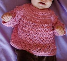 Hand Knitting Tutorials: Baby Bubbles Smock - Free Pattern