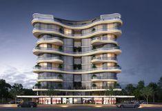 Residential Building Design, Office Building Architecture, Hotel Architecture, Futuristic Architecture, Architecture Design, Colourful Buildings, Unique Buildings, House Balcony Design, Turkish Architecture