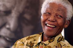 Nelson Mandela, South African icon of peaceful resistance.  A great man who did great things...