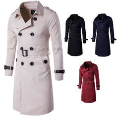 Autumn outfit high-end products Europe and the United States long double-breasted coat of cultivate one's morality men's coat