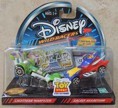 Disney Wild Racers Lightyear Warpster and Galaxy Aggressor for sale online Disney Cars Toys, Disney Pixar, Eden Design, Vanity Plate, Hot Wheels Cars, Toy Story, Diecast, Crafts, Men