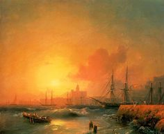 Айвазовский Иван Константинович. Малага, 1854.