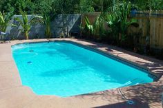15 x 32 foot Aloha Fiberglass Pool.  Mystic model that has two seats down at the deep end.  Great size for a family.