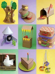 Tudo feito com #papelão. Saiba como fazer mais coisas em http://www.comofazer.org