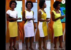 Maju também aposta em tons de amarelo, que contrastam com sua cor de pele em vestidos com recortes e estampas diferentes (o segundo modelo é da marca MSP Collection e está à venda por  R$ 99,90)