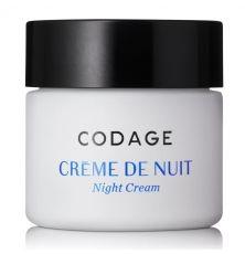 Crème de nuit CODAGE Paris NOURRISSANTE- RÉGÉNÉRANTE- DÉTOXIFIANTE