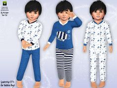 The Sims Resource - TSR Spaceship themed pyjamas by minicart - Sims 3 Downloads CC Caboodle