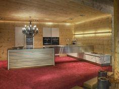 PINE AND STAINLESS STEEL KITCHEN PINEWOOD KITCHEN BY WERKHAUS | DESIGN WILLI BRUCKBAUER