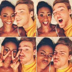Fun interracial couple #love #wmbw #bwwm♡