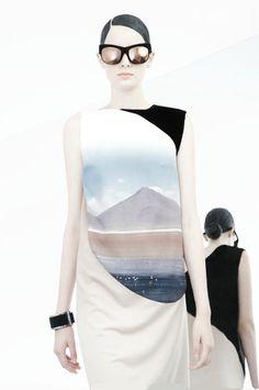 Photorealistic prints .... glaciers and mountains from Pedro Lourenco fashion