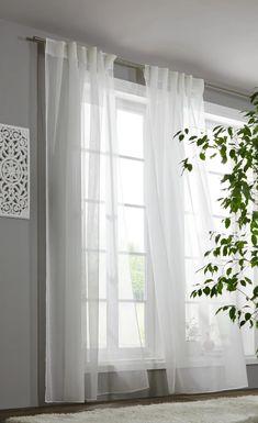 Kombivorhang Leo in Weiß ca. 140x255cm online kaufen ➤ mömax Curtains, Home Decor, Blinds, Interior Design, Draping, Home Interior Design, Window Scarf, Home Decoration, Decoration Home