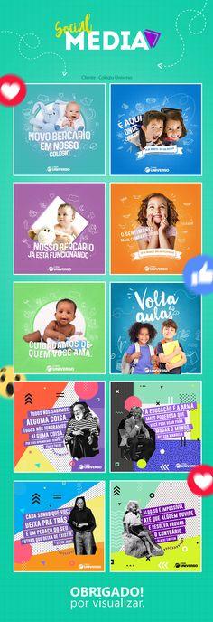 Social media- Colégio Universo on Behance Social Media Bar, Social Media Planner, Social Media Poster, Social Media Detox, Social Media Quotes, Social Media Branding, Social Media Design, Social Media Graphics, Social Media Marketing Business