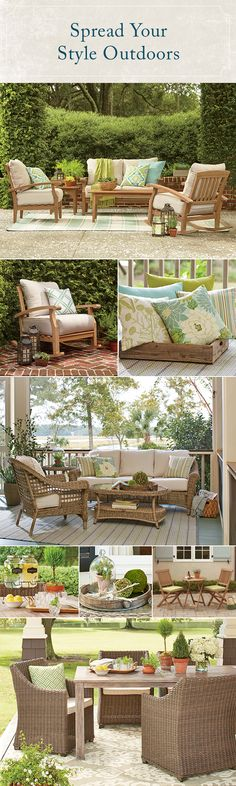 Transform your outdoor space in an open-air living or dining room that has just as much style and personality as the inside of your home. Create a cozy spot to relax and enjoy the fresh air with seating groups to accommodate friends and family. Explore Birchlane.com for outdoor furniture favorites, patio dining essentials, and pillows that keep you comfy from sunup to sundown. As always, all orders $49 and up ship free!