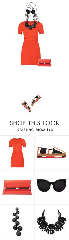 """Casual outfit: Black - Orange"" by downtownblues ❤ liked on Polyvore featuring Alinka, dolceandgabbana, DianeVonFurstenberg, espadrilles and casualwear"