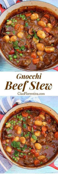 Five Approaches To Economize Transforming Your Kitchen Area Homemade Beef Stew With Italian Potato Gnocchi In A Smoky Paprika Gravy With Subtle Hints Of Clove Ciaoflorentina Beef Recipes For Dinner, Meat Recipes, Cooking Recipes, Healthy Recipes, Yummy Recipes, Stewing Beef Recipes, Cooking Tips, Potato Recipes, Healthy Food