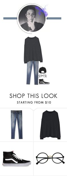 """""""-language class"""" by sehyoon ❤ liked on Polyvore featuring R13, Vans, Retrò, Brixton, men's fashion and menswear"""