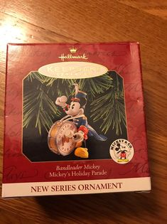 This Hallmark ornament Bandleader Mickey is #1 in the Mickey's Holiday Parade series. The ornament is in excellent condition. The front of the box has a couple dents that you can see if in the picture. All reasonable offers are considered. Ornament will be packaged securely for safe shipping. Hallmark Christmas, Hallmark Ornaments, Couple, Box, Holiday, Pictures, Photos, Snare Drum, Vacations