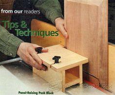 Making Panel-Raising Push Block - Cabinet Door Construction and Techniques   WoodArchivist.com