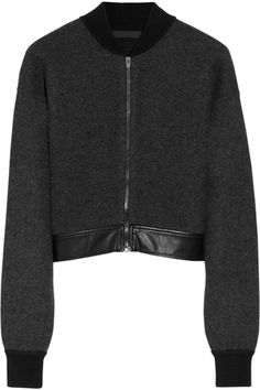 Alexander Wang boiled wool and cashmere-blend bomber jacket
