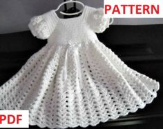 Crochet Pattern: Infant Baptism, Blessing, Christening Gown Instant Download GC107