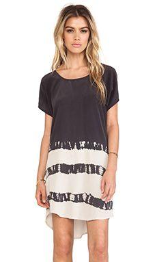 678501dea9 Gypsy 05 Cairo Scoop Back Dress in Black and Cream Tie Dye Stripe