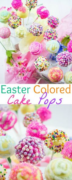 Easter Colored Cake Pops For My Birthday Girl. Make easy, simple and sweet looking cake pops with those tips and ideas for every occasion! http://www.twopurplefigs.com