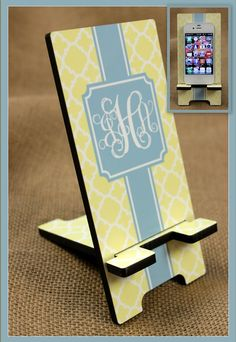 Cell Phone Stand Monogrammed Gift Personalized by ChicMonogram, $22.00