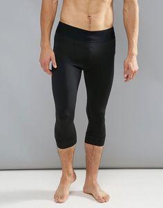 Adidas James Harden 3/4 Length Gym Training Tights - Black