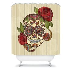 Fab.com Pop-Up Shop: Sugar Skull Shower Curtain