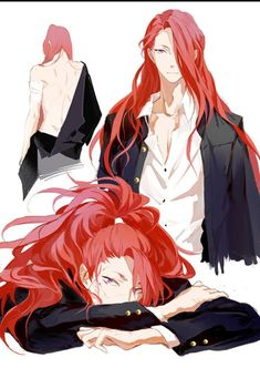 Pin by otaku cidal on character design in 2019 anime guys, a Anime Sexy, Anime Sensual, Hot Anime Guys, Cute Anime Boy, Anime Boys, Red Hair Anime Guy, Red Hair Boy, Anime Hair Male, Red Hair Anime Characters