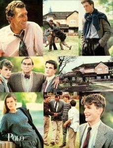 Polo Ralph Lauren Fall/Winter 1988/89 Photo Bruce Weber Models Tim Easton, Nat Young, John Rawlinson, Isabelle Townsend, Thomas Moore & Unknown