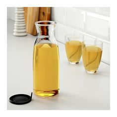 VARDAGEN Carafe with lid IKEA Slim carafe with a practical lid, ideal for…