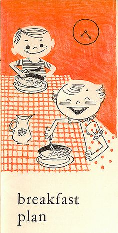 Home Meal Planner - Breakfast Plan. 1957. Illustrated by Albert Aquino.