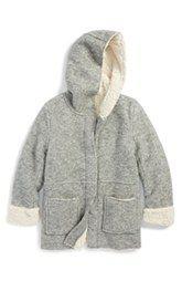 Peek 'Ventana' Hooded Wool Blend Jacket (Toddler Girls, Little Girls & Big Girls)