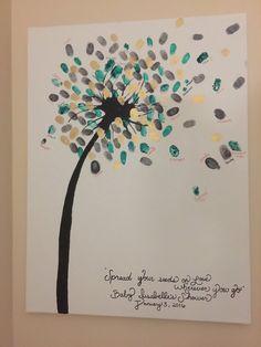 Dandelion Baby Shower Guest Book van TreeofPsalms op Etsy