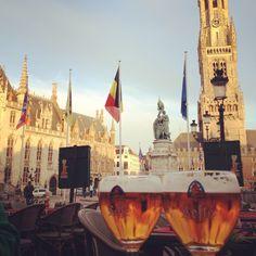 Bruges, Belgium with Leffe beer. #beer #belgianbeer #craftbeer