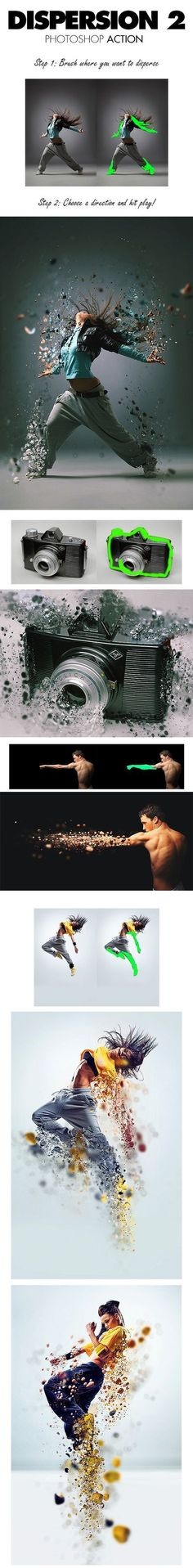 Buy Dispersion 2 Photoshop Action by sevenstyles on GraphicRiver. Please watch the above video for a demonstration of the action and customization tutorial Other actions you may like. Photography Cheat Sheets, Photography Editing, Book Photography, Photography Tutorials, Creative Photography, Photo Editing, Action Photography, Effects Photoshop, Photoshop Tutorial