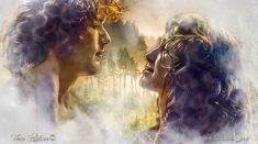Fan art of Jamie and Claire by Vera Adxer                              …