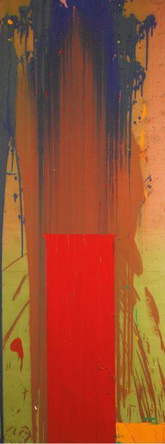 John Hoyland---Stable At State Kopie, 244x91,5cm, acrylic on canvas, 1970