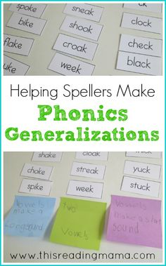 Helping Spellers Make Phonics Generalizations ~Making Phonics Meaningful for Kids Phonics Reading, Teaching Phonics, Teaching Language Arts, Teaching Reading, Jolly Phonics, Teaching Ideas, Reading Comprehension, Learning, Teaching Resources