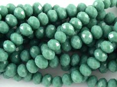 Celadon Green Crystal Glass Beads 8mm (CRY138)