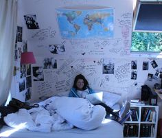 Hey! Im Alexandra, Im 18 years old and I live in Brussels, Belgium. I moved in that house about five years ago and now Im moving back in my old one. Is making me sad because I have lots of memories in this room.. The reason why I love this room so much its because a lot of my friends wrote on my walls and it means so much to me. When im like alone at home and depressed, and feeling like no one loves me, I just look to my walls and I feel so much warmth and love! It;s so amazing!