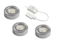 LED under unit cabinet light kit, kitchen cupboard lighting surface recess