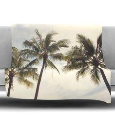 Boho Palms by Catherine McDonald Fleece Throw Blanket