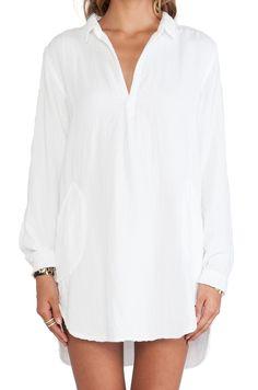 CP SHADES Teton Tunic Dress in White