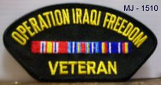 Operation Iraqi Freedom Veteran with Ribbons Embroidered Patch