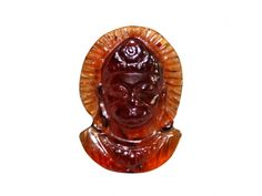 Face of Hanuman in Gomedh / Hessonite - 8 carats