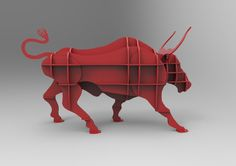 Angry Bull shelf cnc vector file
