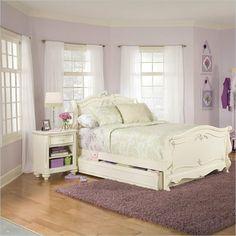 Lea Jessica McLintock Romance Kids Sleigh Bed 3 Piece Bedroom Set - 203-9X8R-3PcBedroom-PKG - Lowest price online on all Lea Jessica McLintock Romance Kids Sleigh Bed 3 Piece Bedroom Set - 203-9X8R-3PcBedroom-PKG