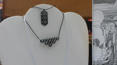 My newest 3d printed jewelry line on display at Shapeways booth for Trieste Mini Maker Faire 2015.